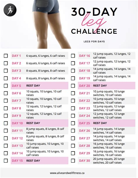 30 day thigh slimming challenge 30 day thigh challenge new calendar template site