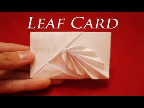How To Make A Origami Card - how to make an easy origami leaf card hd