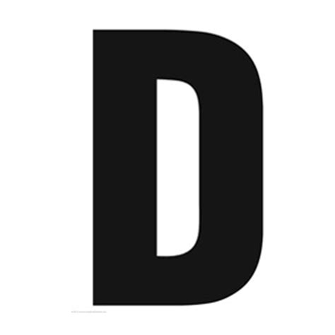 printable large capital letters solid capital d