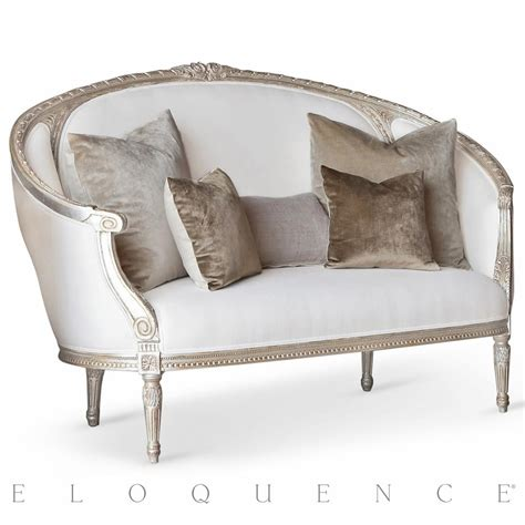 canape sofa eloquence versailles canape sofa in silver leaf kathy