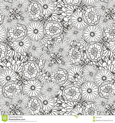 Unique Pattern unique pattern with doodle flowers vector illustration