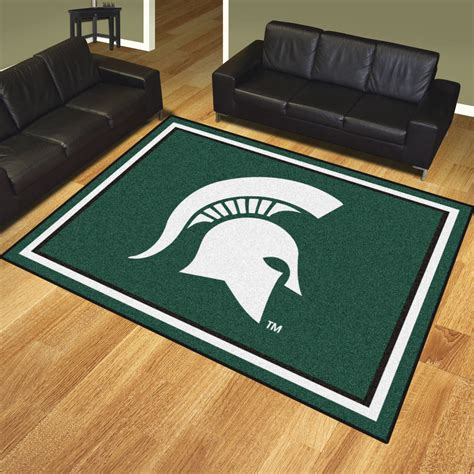 Area Rugs Michigan Michigan State Spartans Area Rug 8 X 10