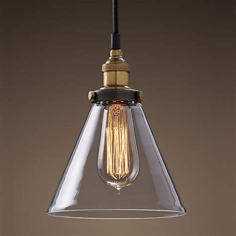 Vintage Light Pendant Modern Vintage Industrial Metal Glass Ceiling Light Shade Pendant Light Bulb Glass Ceiling