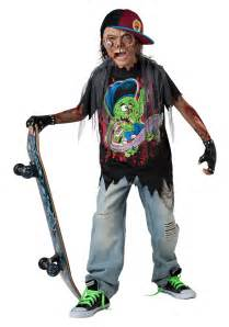 undead halloween costumes zombie sk8r child costume