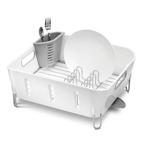 Simplehuman Drying Rack by Simplehuman White Compact Dish Rack At Amara