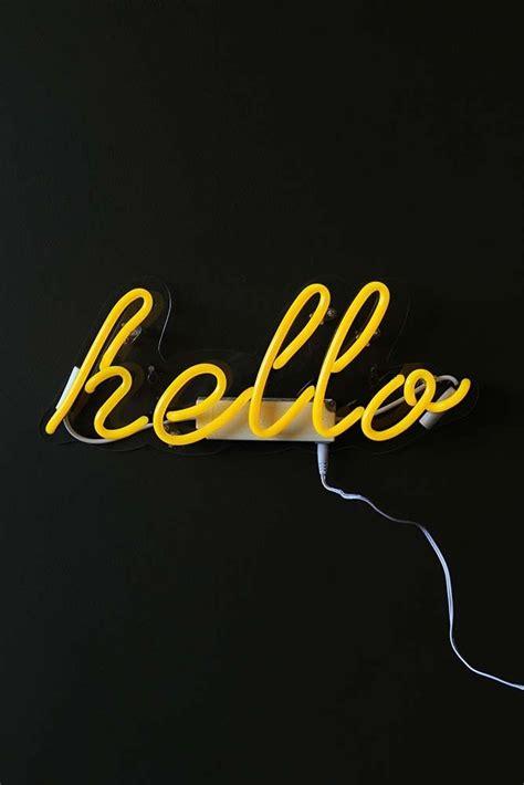 hello lights yellow hello neon light from rockett st george