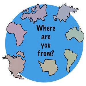 where in the world are you from lesson planning page