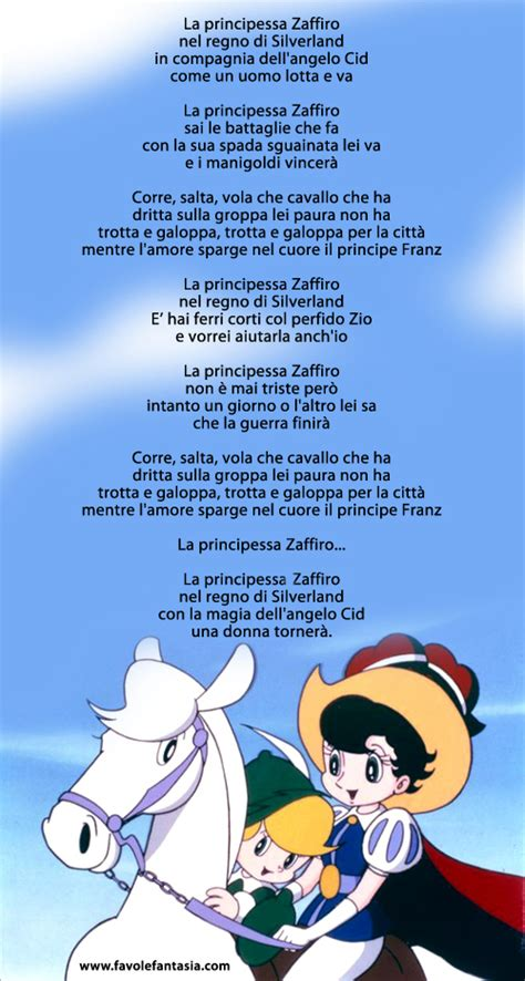 pinocchio sigla testo la principessa zaffiro sigla favole e fantasia
