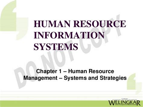 Human Resources Management Information Systems Mba by Human Resource Management Systems And Strategies