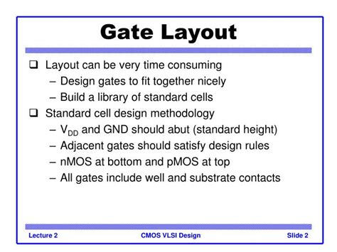 layout design vlsi ppt ppt introduction to cmos vlsi design lecture 2 standard