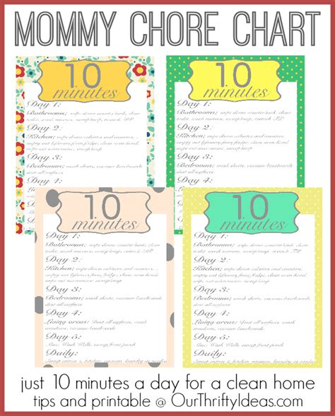 How To Keep A Clean House Schedule mom s chore chart a clean home in just 10 minutes a day