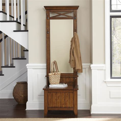 Entryway Wall Tree Entryway Tree With Mirror And Bench By Liberty