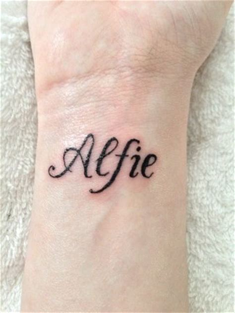 alfie tattoo designs name babycentre