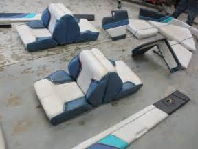 Boat Vinyl Upholstery 1987 17 Ft Bayliner Capri Interior Seats Cushions Back