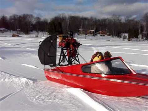 airboat construction airboat on ice water land jeff s scoot 2 georgian bay