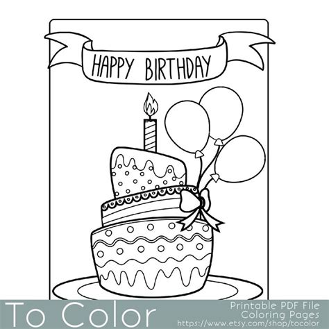 kansas birthday coloring pages printable birthday coloring page for adults pdf jpg