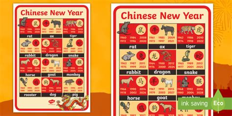 new year animals new year animals and years display poster