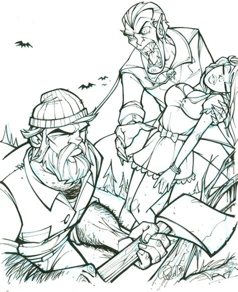 The Gallery For Gt Sleepy Hollow Coloring Page Paul Bunyan Coloring Pages