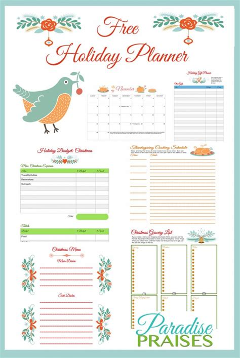 printable holiday planner free printable holiday planner