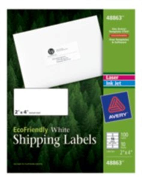avery template 48863 avery ecofriendly shipping labels