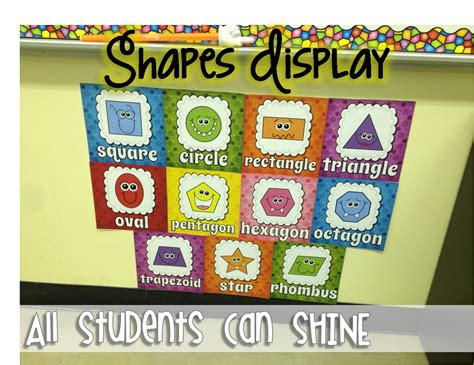 printable shapes for classroom display all students can shine my classroom