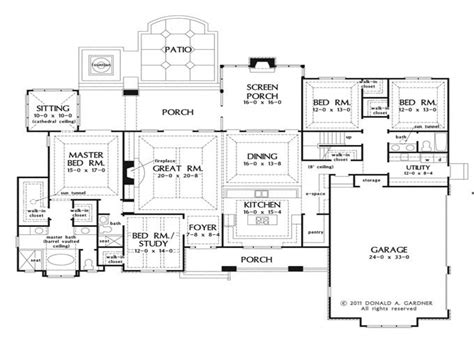 large 1 story house plans open house plans with large kitchens open house plans with porches large one story house plans