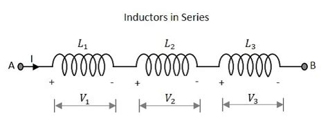 series of inductors basic electronics circuit connections in inductors