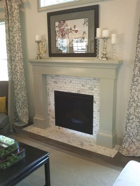 1000 ideas about subway tile fireplace on