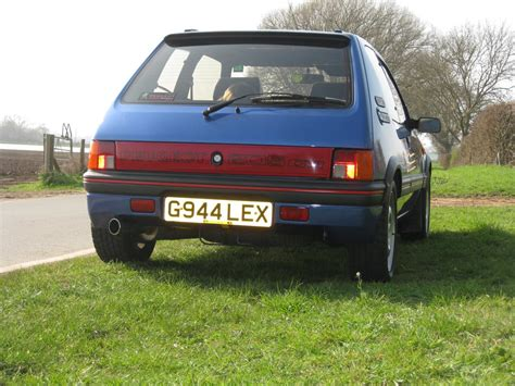 peugeot 205 gti 1 9 for sale 1990g peugeot 205 gti 1 9 miami blue limited edition for sale