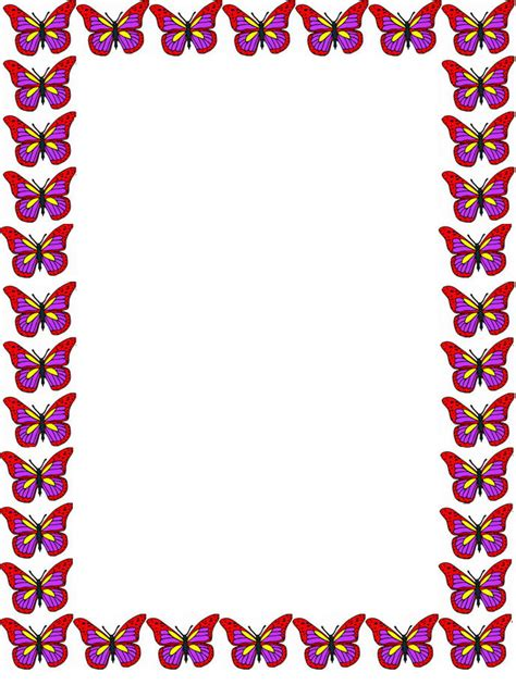 free butterfly border stationery free printable butterfly