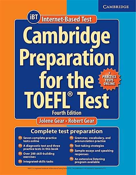 Preparation For Test cambridge preparation for the toefl test fourth edition