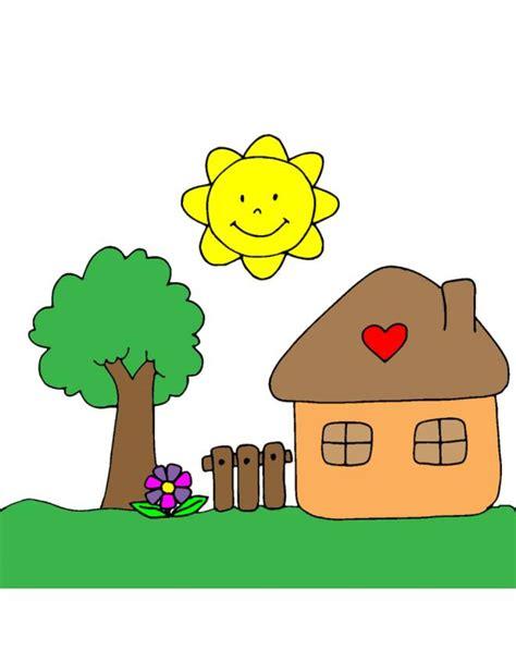 disegni casa disegno di casetta in cagna a colori per bambini