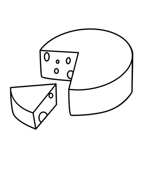 healthy food and tasty cheese coloring pages educational