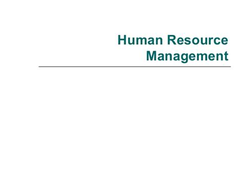 Mba Resource Management by Human Resource Management Mba