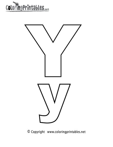 Y Coloring Pages by Alphabet Letter Y Coloring Page A Free Coloring
