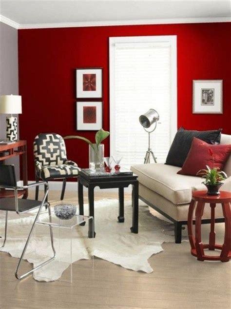 sala rojo blanco  negro mi casa en  accent walls