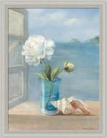 review coastal floral i by danhui nai blue bath bathroom