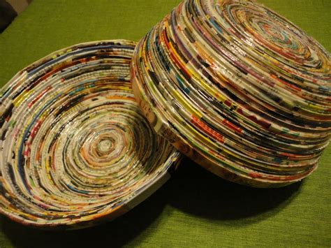 How To Make Paper Bowls From Magazines - recycle magazines into beautiful bowls living on the