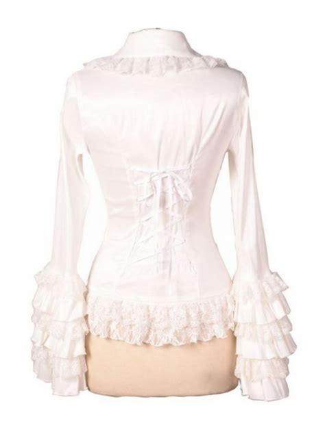 Ruffle Blouse White Sleeve by White Sleeves Ruffle Blouse For