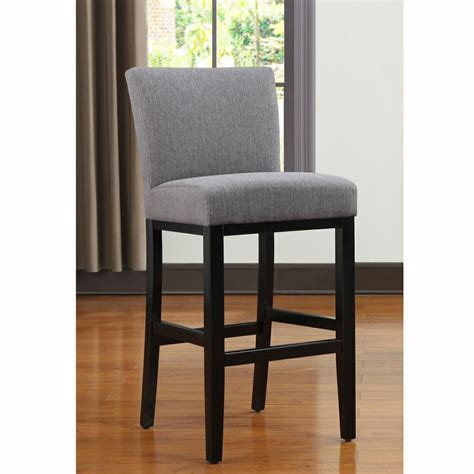 grey kitchen bar stools portfolio orion charcoal gray linen upholstered 29 inch