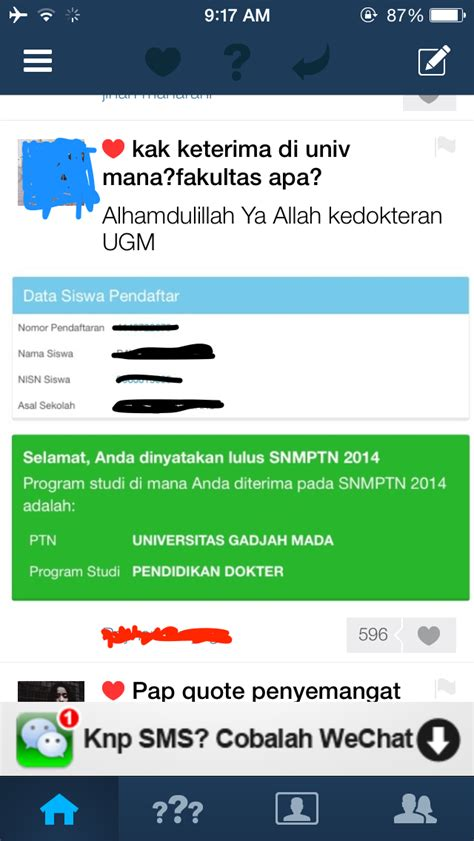 ask fm okk ui sbmptn 2014 getting accepted at fkui