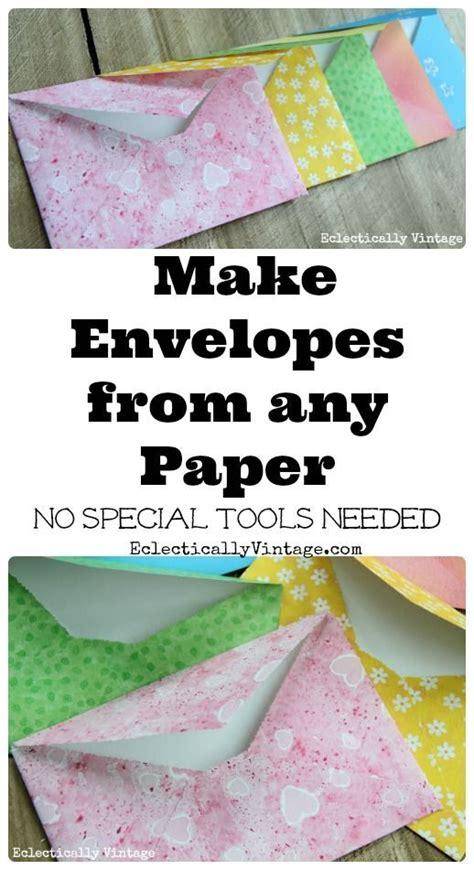 Make An Envelope From Paper - make diy envelopes from any paper wedding diy envelope