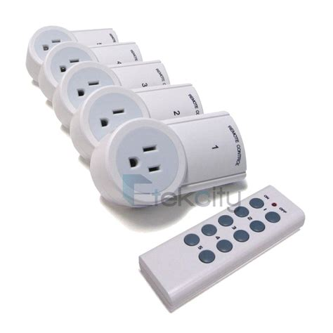 Ac Akari 3 4 Pk 1 2 3 5 pack wireless remote controlled ac electrical socket switch outlet ebay
