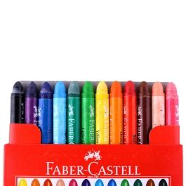Crayon Faber Castell Isi 12 Warna faber castell wax crayons jumbo isi 12
