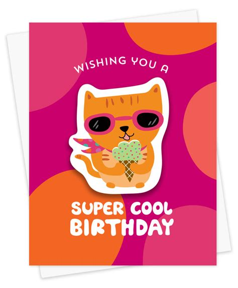cool cat birthday cards night owl paper goods stationery wood gifts