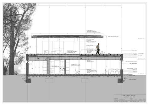 section drawing of a house read more at http plusmood com 2009 09 olnick spanu