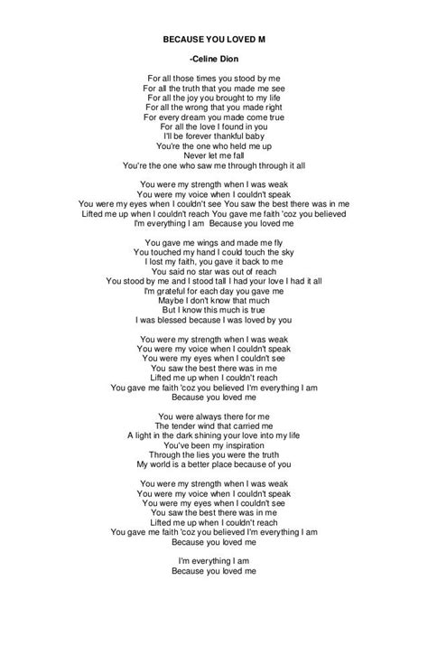 testo because of you 17 best images about song lyrics xx on songs