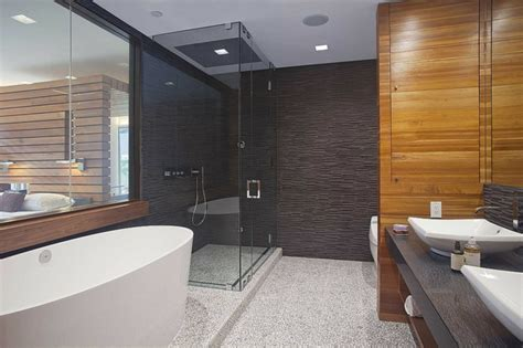 moderne master bad ideen 105 badezimmer design ideen stein und holz kombinieren