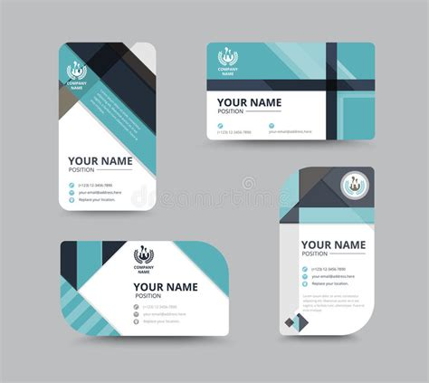 name card vector template business name card design for corporation card template