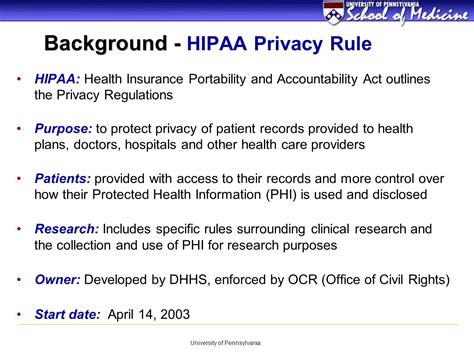 What Is The Purpose Of Background Information In An Essay by Hipaa Requirements For Patient Oriented Research Ppt